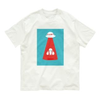 未確認Tシャツ<お買い物帰りの宇宙人> Organic Cotton T-shirts