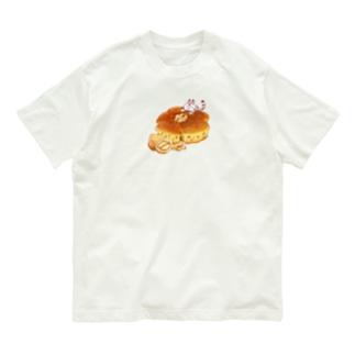 にゃんこ&食《くるみパン》・改 Organic Cotton T-shirts