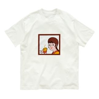 紙パック少女 Organic Cotton T-shirts