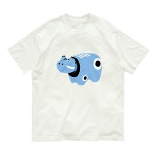 赤べこ(青) Organic Cotton T-shirts