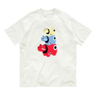赤ベコ×3 Organic Cotton T-shirts