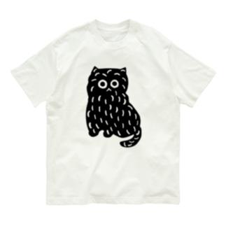 ふくろうねこ Organic Cotton T-Shirt