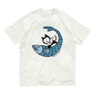 なみのりねこ Organic Cotton T-shirts