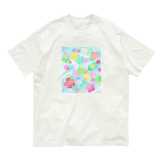 クリスタルフラワー(花柄) Organic Cotton T-shirts