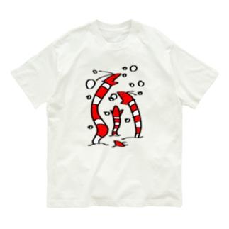 えびアナゴ丸カラーversion Organic Cotton T-shirts