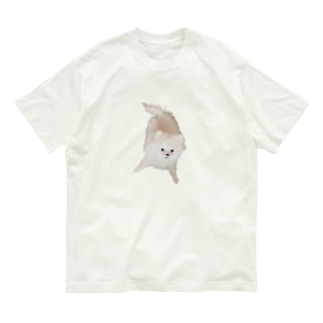 紐カミカミののたん(白ポメラニアン) Organic Cotton T-shirts