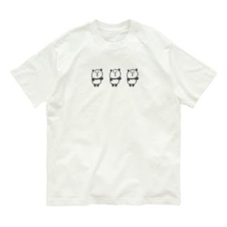 ふりふりパンダ Organic Cotton T-shirts