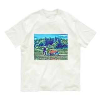 田植えする者 Organic Cotton T-shirts