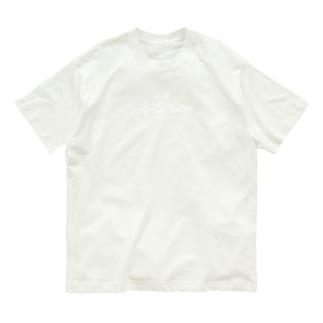 喫茶メニュー 白ロゴ&コーラフロート Organic Cotton T-shirts