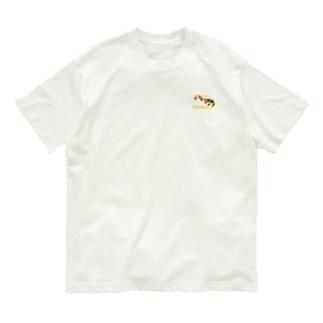 三毛猫ニャン(ワン)ポイントコットンTシャツ【Nuku nuku...】 Organic Cotton T-shirts