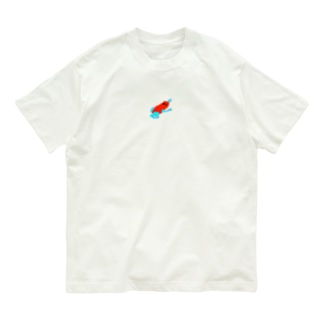真っ赤なカエル Organic Cotton T-shirts