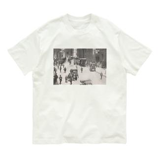 ウォールストリート<アンティーク・フォト> Organic Cotton T-shirts