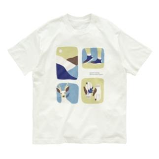 やまのなかで_水色 Organic Cotton T-shirts