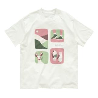 やまのなかで_桃色 Organic Cotton T-shirts