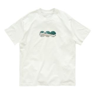まるい波 Organic Cotton T-shirts
