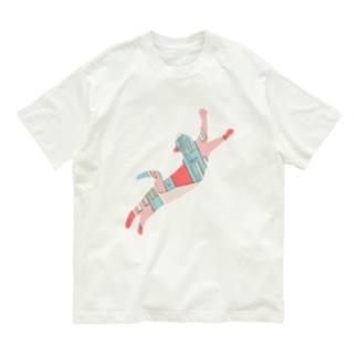 ねこ 心躍る道のり Organic Cotton T-shirts
