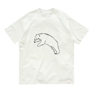 飛び込もうとしているりあるしろくま Organic Cotton T-shirts