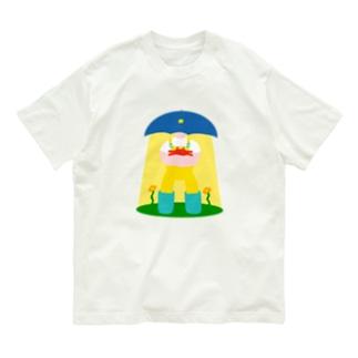 かさのうちゅうじんとカニのあかちゃん Organic Cotton T-shirts