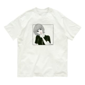 伊佐坂みつほの優柔不断 赤リップ Organic Cotton T-Shirt