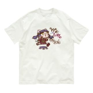 まなネコ アメコミ風 Organic Cotton T-shirts