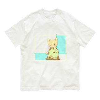 だぼっとTシャツにゃんこ Organic Cotton T-shirts