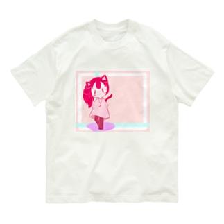 カラフルににゃん娘 Organic Cotton T-shirts