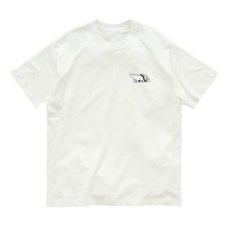 シロクマと氷山(小) Organic Cotton T-shirts