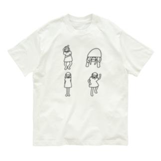 ひょうきんポーズ Organic Cotton T-shirts