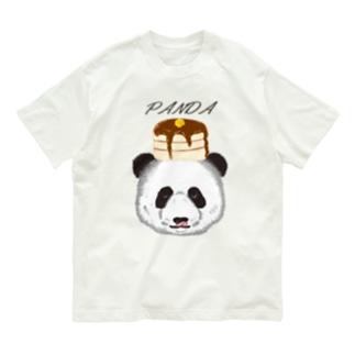 食いしん坊リアルパンダホットケーキButter Organic Cotton T-Shirt