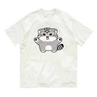 マヌルちゃんギャオー Organic Cotton T-shirts