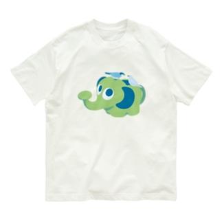 ぞうさんジョウロの上で Organic Cotton T-shirts