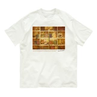 森の本棚(ブラウン) Organic Cotton T-Shirt