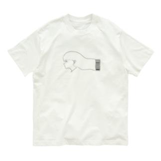 美容院バーコード注文少女 Organic Cotton T-shirts
