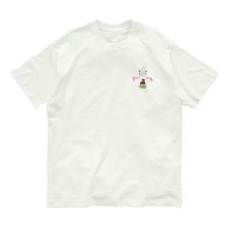 裏表プリント/怒りのおしりす Organic Cotton T-shirts