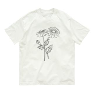黒デイジー Organic Cotton T-shirts
