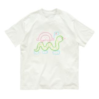 へびさんに乗ってGO Organic Cotton T-shirts