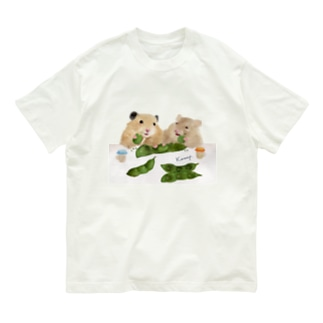 【KAMAP】枝豆とハムスター兄弟 Organic Cotton T-shirts