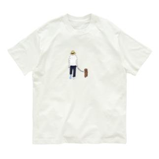 momoewokakuのいぬと Organic Cotton T-Shirt