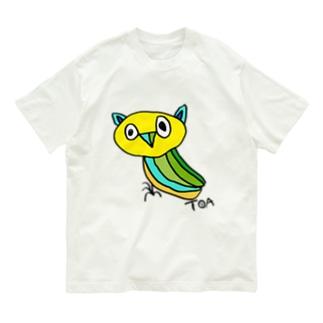 きいろのみみずくちゃん Organic Cotton T-shirts