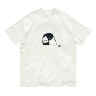 文鳥さんの顔 Organic Cotton T-shirts