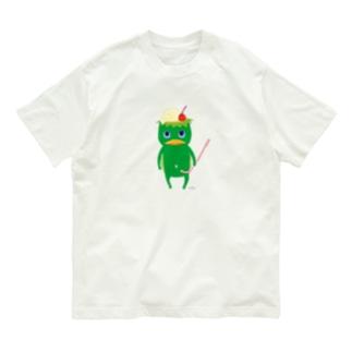 おばけTシャツ<クリームソーダになりたい河童> Organic Cotton T-shirts