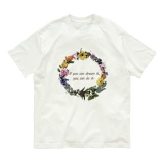 香りの花のリース Organic Cotton T-shirts