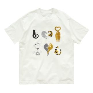 ハート猫 Organic Cotton T-shirts