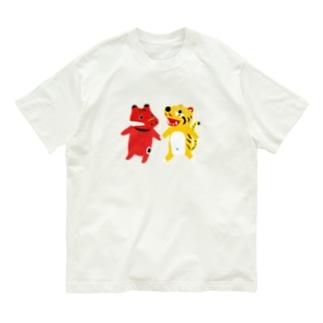 TOYTOY<赤べこと張り子の虎> Organic Cotton T-shirts