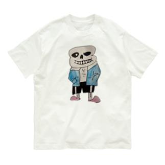 両面がいこつ Organic Cotton T-shirts