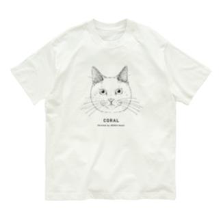 1CAT(CORAL) Organic Cotton T-shirts