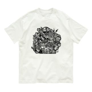 モノクロ猫 Organic Cotton T-shirts