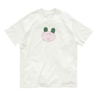みみがわかめのうさぎ(おおきく) Organic Cotton T-shirts