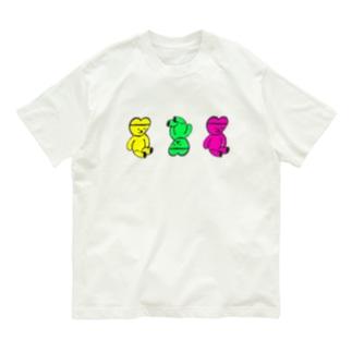 くまくま。グミゴールドベア Organic Cotton T-shirts