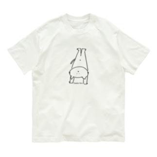 なるねこさん逆立b 4色展開! Organic Cotton T-shirts